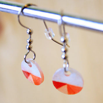 Geometrical Pink Peach Red & Orange | earrings