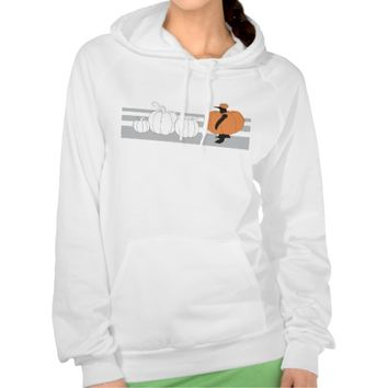 Penguin in the Pumpkin Patch Cute Funny Sweatshirts