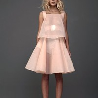Pastel Peach Dress With Belt | Marchi | Shop | NOT JUST A LABEL