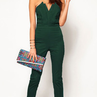 Strapless V-Neck Jumpsuit