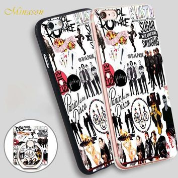FALL OUT BOY Phone Case Holder Soft TPU Silicone Phone Case Cover for iPhone X 8 5 SE 5S 6 6S 7 Plus