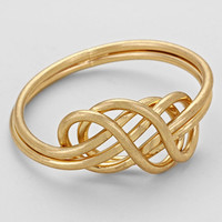 Infinity Double Ring Gold
