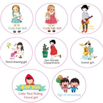 1 Pcs/set  DIY Cartoon Cute Paper Washi Tape hood doll Sweet girl Decorative Adhesive Tape stickers/School Supplies 20mm*10M
