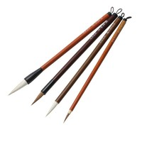 4Pcs Chinese Traditional Painting Brushes Writing calligraphy Artist Drawing Brush For Painting wood brush Weasel hair