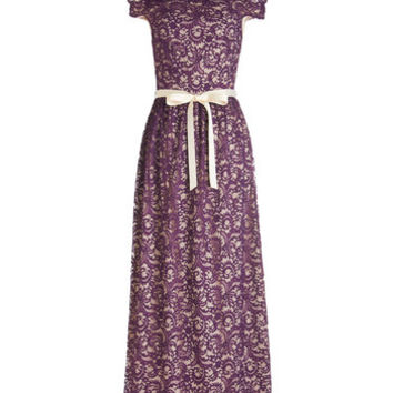 ModCloth Long Strapless Maxi All the Acclaim Dress