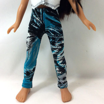 Hearts 4 Hearts Doll Leggings, Turquoise Black
