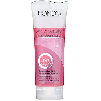 Pond's White Beauty Pearl Cleansing Gel With Pearl Essence Facial Foam