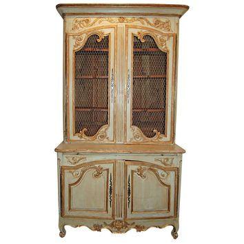 18th Century Painted and Gilded Buffet Deux Corps