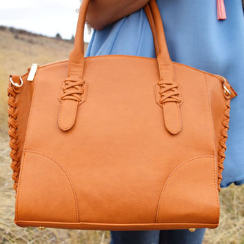 Mountain Weekend Stitched Bag Cognac