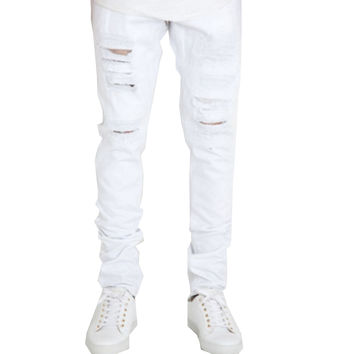 CRYSP Ash Pants In White