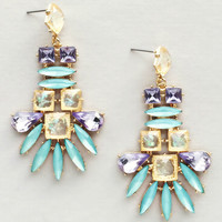 Aqua Lavender Earrings