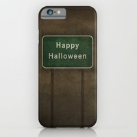 Scary Happy Halloween Roag Sign iPhone & iPod Case by Bruce Stanfield | Society6