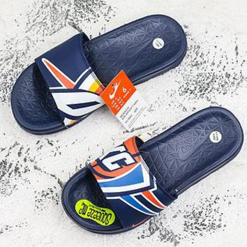 Nike Benassi Solarsoft Nba Oklahoma City Thunder Slider Slipper - Best Deal Online