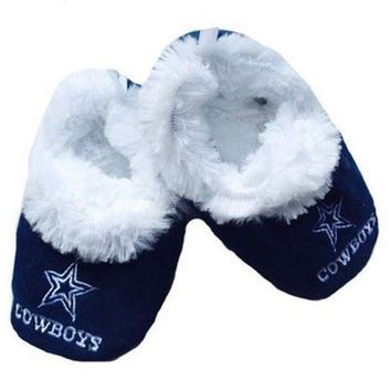 Dallas Cowboys Baby Bootie Slippers Infant Children Kids Baby Shower NFL
