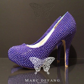 The Classic Blue Pearl Closed Toe heels