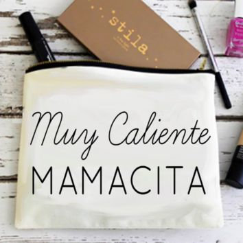 Muy Caliente Mamamcita! Canvas Pouch