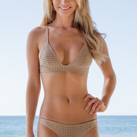 ACACIA SWIMWEAR - Awapuhi Mesh Top | Clay