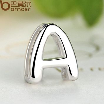 """Pendants for Lovers 925 Sterling Silver """"A"""" Alphabet Letter Pendants & Necklace Women Jewelry SCN024-A"""