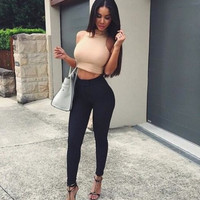 Fashion High Waist Two-Piece Suit