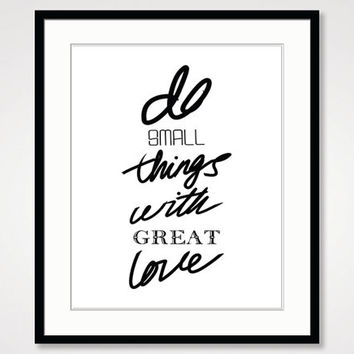 motivational wall decor, inspirational print, handwritten handwriting, black and white art print, typographic  positive energy, modern art