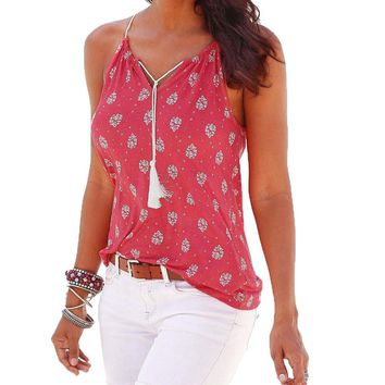 New Summer Sleeveless O Neck Casual Top