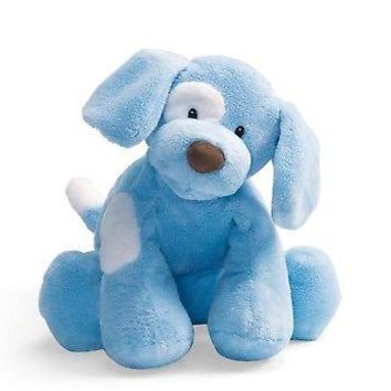 GUND - Spunky Dog Stuffed Animal, Blue, Medium, 10 inches