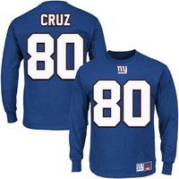 Victor Cruz New York Giants Eligible Receiver II Long Sleeve T-Shirt – Royal Blue