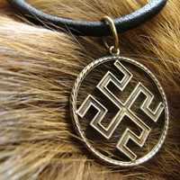 Bogovnik Slavic Pendant, Symbol, Pagan Jewelry, Norse jewelry, Gift for him, Gift for her