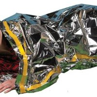 "Emergency Survival Mylar Thermal Sleeping Bag (2 Pack) - Grizzly Gear - 84"" X 36"""