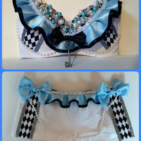Alice in Wonderland Rave Bra Outfit / Beyond Wonderland / EDC Bra / EDC outfit / Rave Outfit