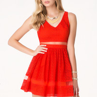 bebe Womens Alyssa Eyelet Dress