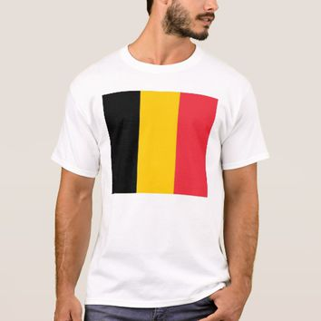 T Shirt with Flag of Belgium