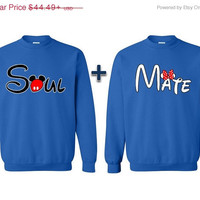 Soul Mate Couple Sweatshirt Couple Sweater Couple Crewneck Valentine Gift Boyfriend Girlfriend Husband and Wife Anniversary Gift