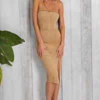 Elmira Suede Dress