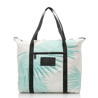 ALOHA Collection -  Tropical Fan Palms Zipper Tote | Pool