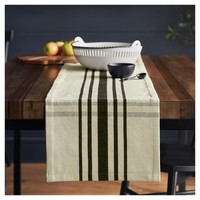 Woven Plaid Table Runner - Cream/Black - Hearth & Hand™ with Magnolia