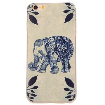 ethnic elephant case cover for iphone 5s 6 6s plus gift box 42  number 1