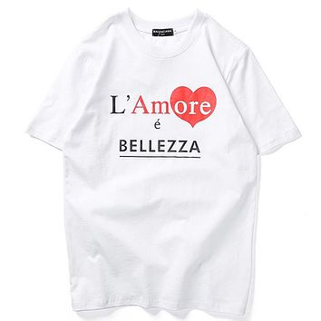 Balenciaga Woman Men Fashion Casual Shirt Top Tee