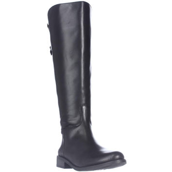 Vince Camuto Kadia Wide Calf Riding Boots - Black