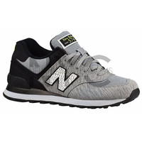 Grey Black New Balance 574 Swarovski Crystal Accent Blinged Out Custom Women