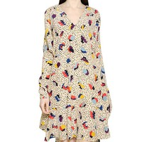 Flower Type Geometry Print Dress
