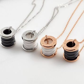 ESBONG Shiny Gift Jewelry New Arrival Stylish Roman Ring Chain Necklace [10375462228]