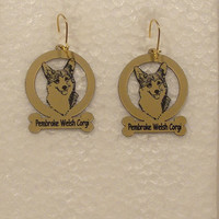 3001 Pembroke Corgi Head Earrings by gclasergraphics on Etsy