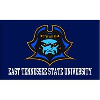 """East Tennessee State University Buccaneers 3"""" x 5"""" Silk Screen Flag with Grommets - Sewing Concepts"""