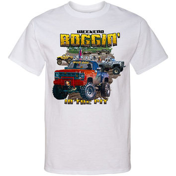 Southern PRINTED T Shirt MUD RIDING Truck Screen Print T Shirt Pit Boggin' Tee...Free Shipping!!