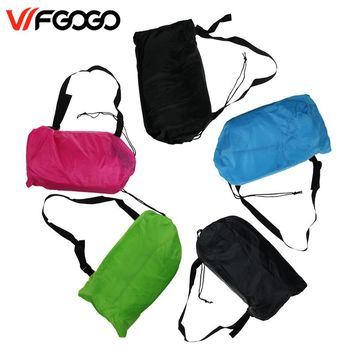 WFGOGO Lazy bag Fast Inflatable Outdoor Air Sofa Sleeping bag Couch Portable FREE SHIPPING!