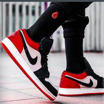 Nike Jordan 1st Generation Bulls Low Tops Black Red