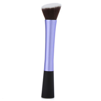 Professional Cosmetic Brush Face Make Up Blusher Powder Foundation Tool Angled Flat Top Purple