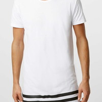 Selected Homme White Stripe T-shirt - New This Week - New In