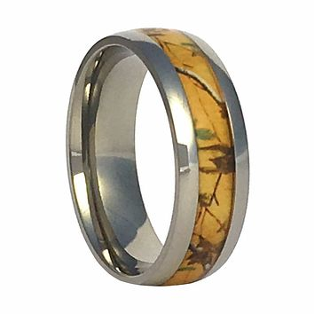 Gold Camo Titanium Ring